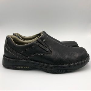 Merrell World Passport Men Shoes 9.5 Black Loafer